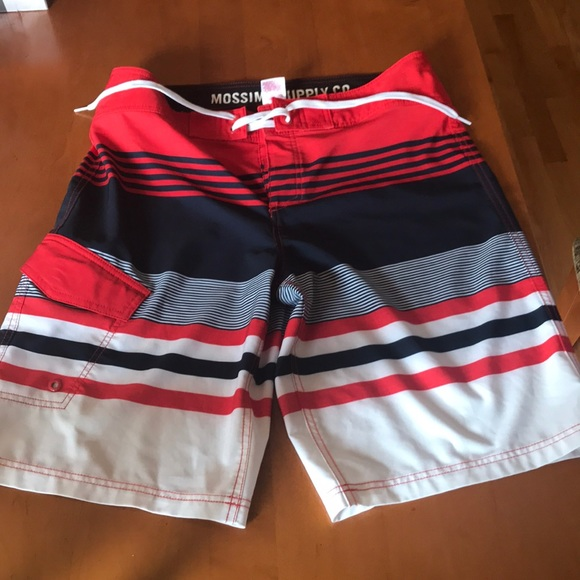 Mossimo Supply Co. Other - Mossimo Men's Board Shorts Sz 34 wht/red/navy